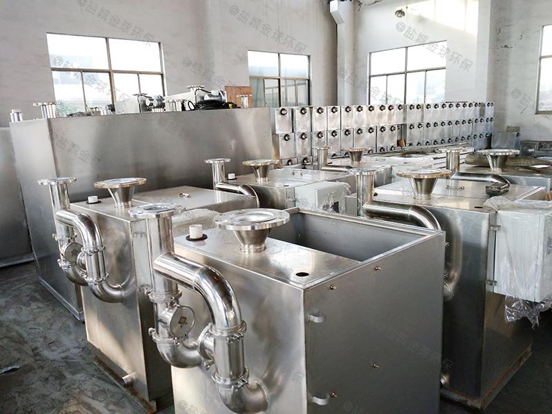 餐飲泔水四級過濾油水分離裝置方案