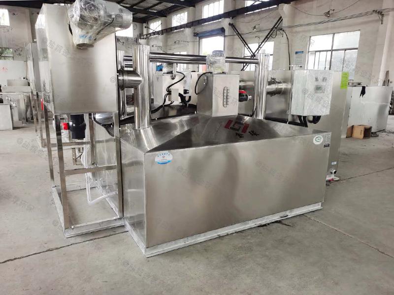 工廠食堂一體化多功能餐廚垃圾油水渣自動分離除油達標