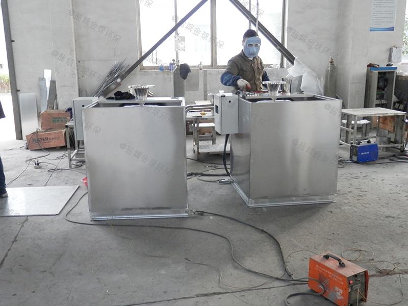 廚房廢水無動力油水分離池處理效果