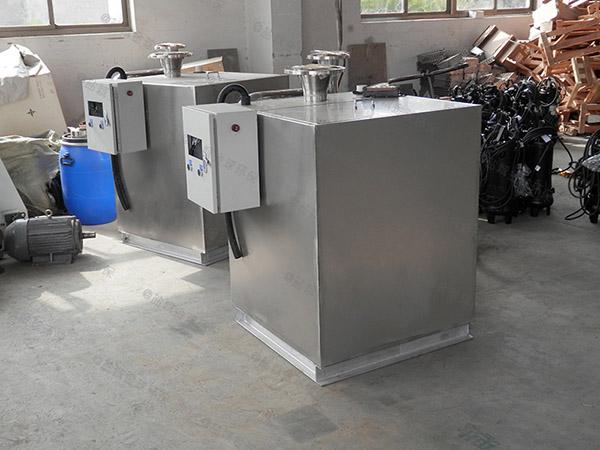 餐飲專用地下簡易隔油提升一體化設備圖紙