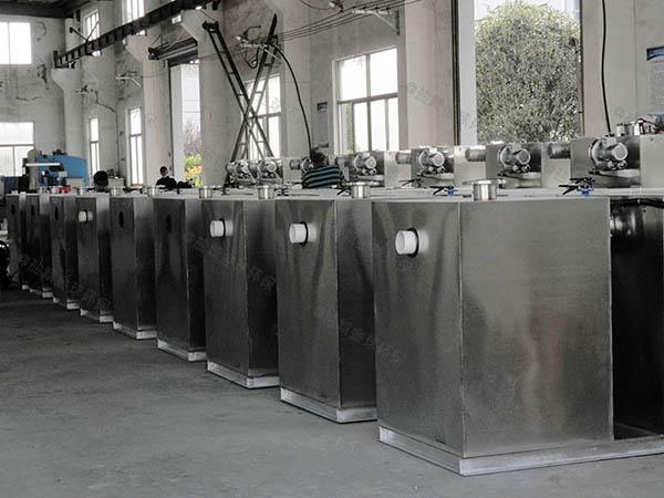 中餐地上移動成品油水分離器制作方法