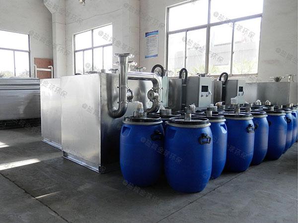 餐飲商戶地上全自動隔油污水提升設備的維護