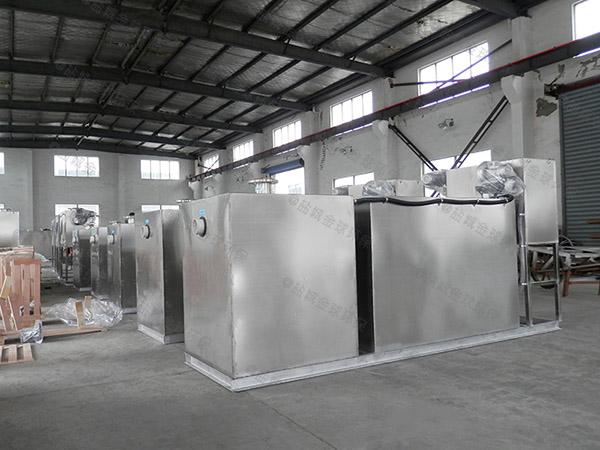 工地食堂地面式智能型油水分離處理裝置制造標準