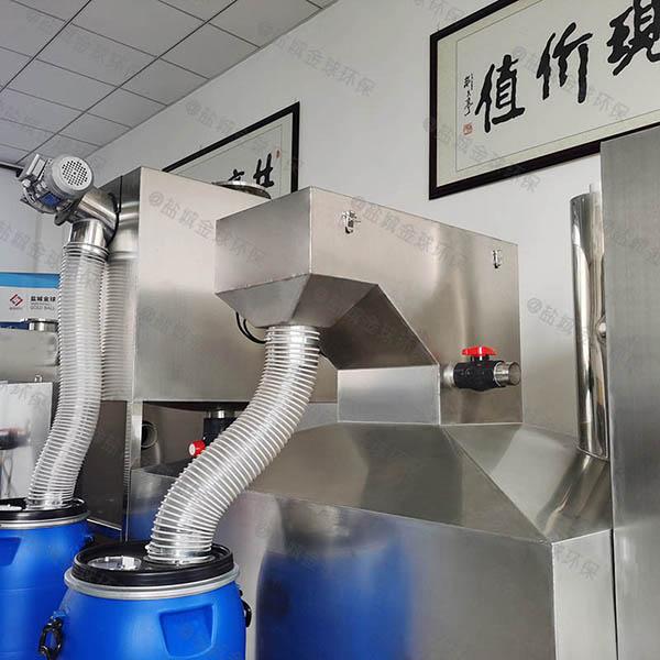 餐飲專用地埋式移動油水固三相分離器做法