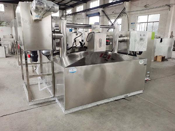 餐飲專用地面自動提升油水分離器一體化技術參數廠家