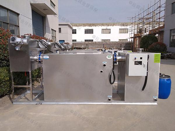 商場餐飲地埋式泔腳一體化隔油池處理設備設計計算