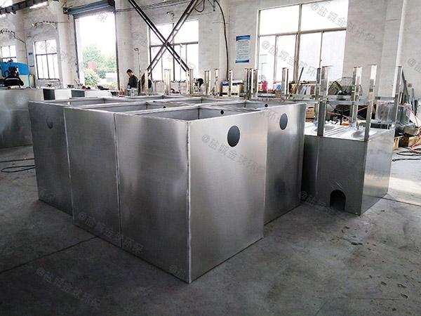 后廚地面式移動油水固三相分離器構造