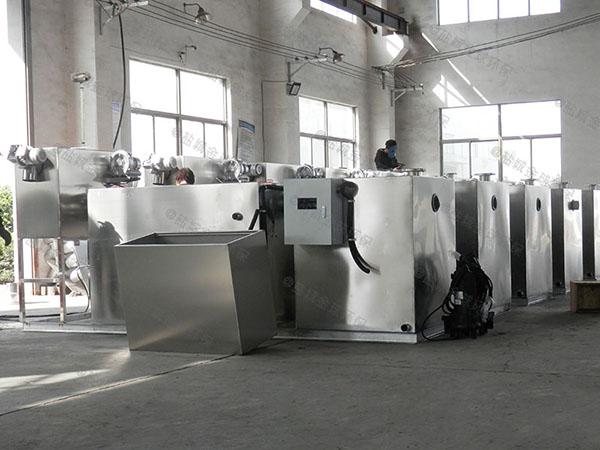 商場餐飲埋地式自動刮油不銹鋼油水分離器的構造
