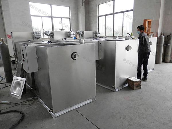 居民用地下室機械含油污水處理設備簡圖