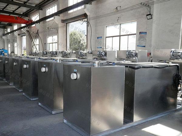 工廠食堂地下室簡單污水隔油設備