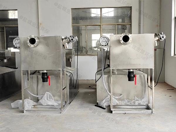 餐飲專用全能型油水渣分離器的使用方法