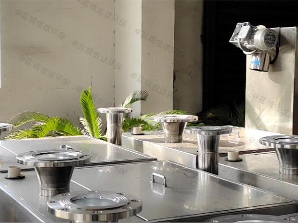 餐飲業智能化油污水分離器安裝方法