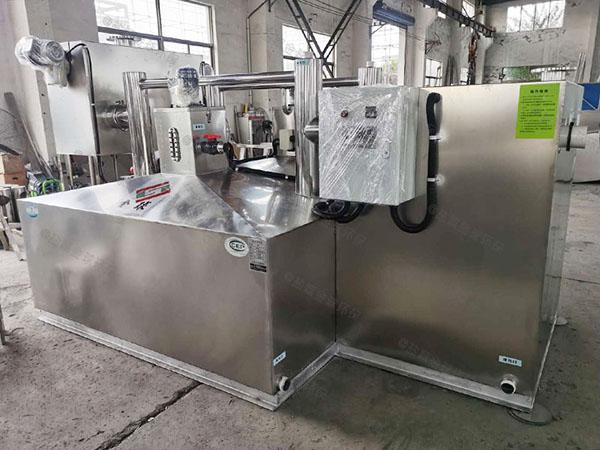 餐厨垃圾户外机械隔油除渣一体化设备的构造