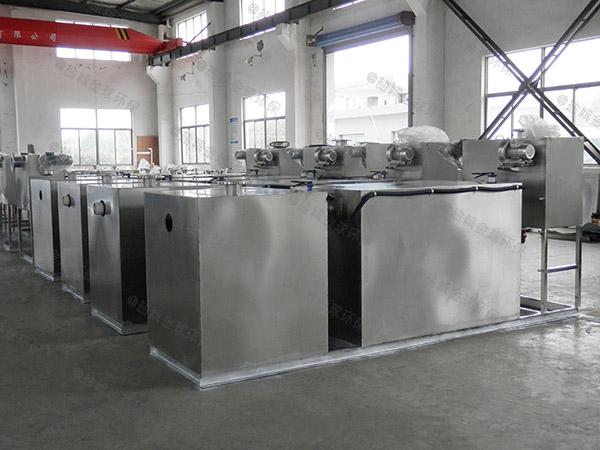 饭馆中小型地埋自动提升三级油水分离器的原理