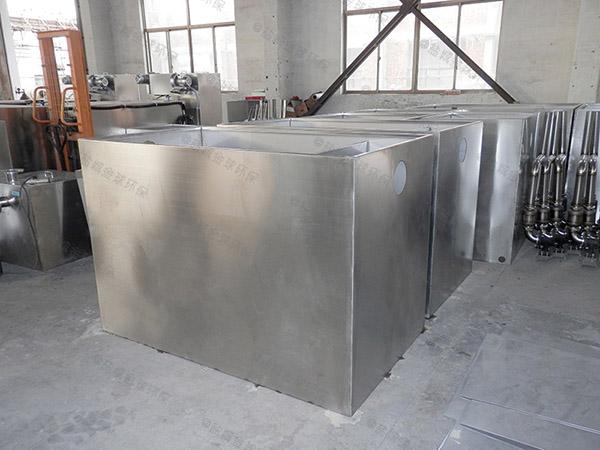餐廳室內大型移動式一體化油水分離裝置安裝
