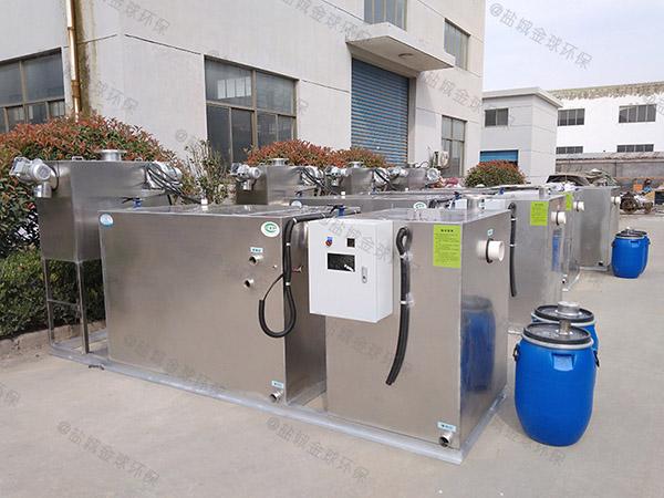 工地食堂大地埋式机械油水分离处理机器直供厂家