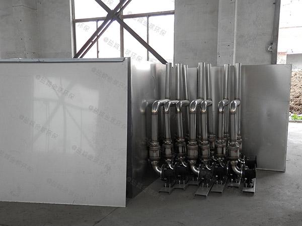 厨房用地下式大型简易隔油除渣设备怎么安装