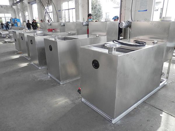 餐馆中小型地下自动排水隔油一体设备的做法