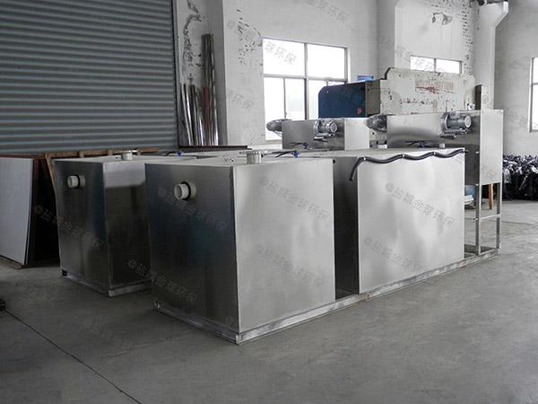 厨房用地下室大型半自动污水隔油器工作原理