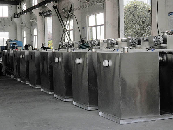 單位食堂地下式組合式隔油提升一體設備圖