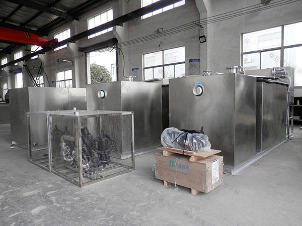 餐饮商户大地上式移动水油分离装置安装位置