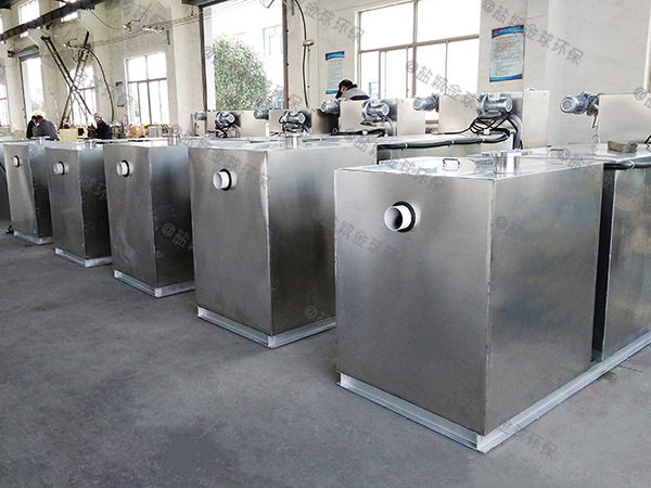 餐厅厨房中小型埋地智能油水渣分离器分类