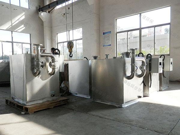 廚房用中小型地下室自動提升隔油強排一體化設備大小