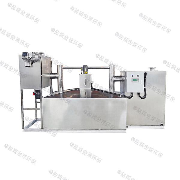 食堂地上式大型简易隔油隔渣设备方法
