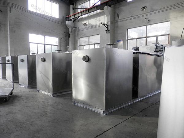 饭馆大地下式简易油水分离一体化设备怎样安装