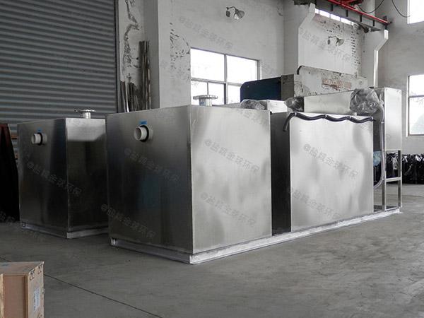 餐饮商户大型地下式全自动智能型气浮式油水分离机保养