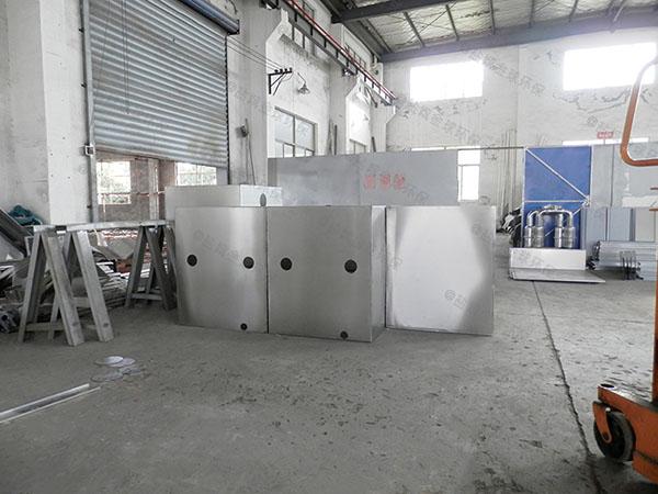食堂埋地自動排水一體隔油提升設備安裝方法