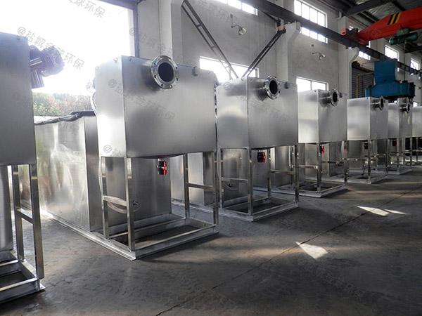 餐飲業大型地面自動提升成品隔油處理器企業