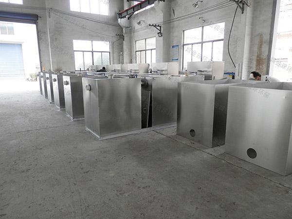 餐飲商戶中小型地下式組合式油水分離機設備多大