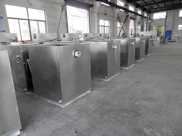 餐飲行業中小型地下室自動除渣三相油水分離器供應廠家