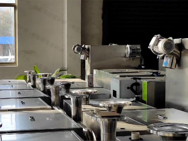 3.5米*1.35米*1.85米餐廚垃圾自動排水隔油提升設備選型
