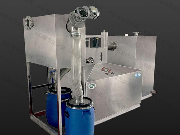餐飲地下智能型隔油提升一體化裝置案例