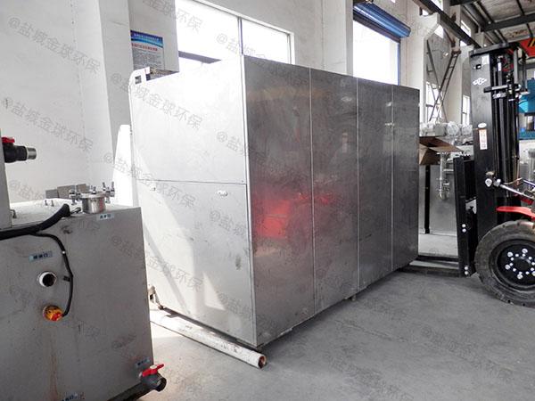 20吨全自动餐饮垃圾压缩烘干设备使用情况