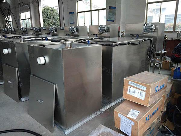 食堂埋地式自动除渣隔油除渣一体化设备处理效果