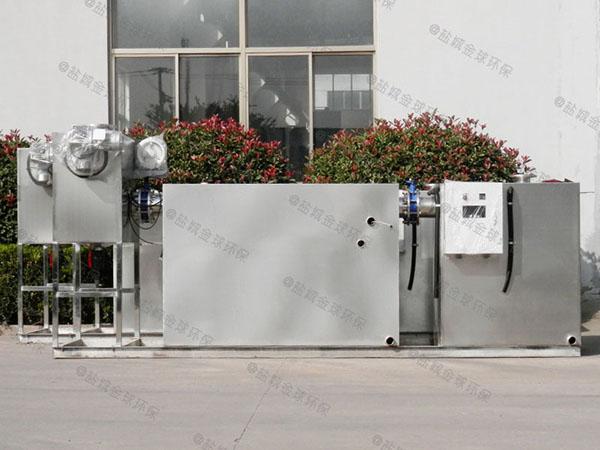 餐饮店地下式全自动隔油过滤设备安装效果图