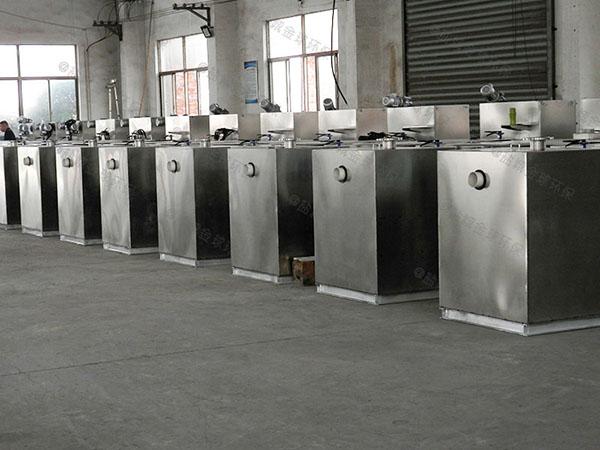 饭店用地面式自动刮油隔油提升一体机处理