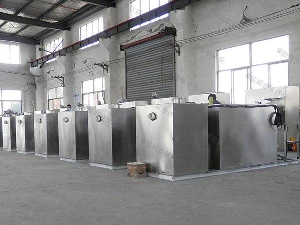 饭店地下式自动排水隔油净化设备处理