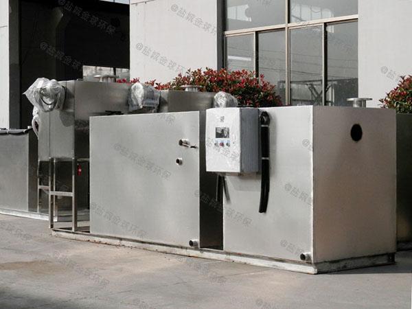 小餐馆的地上全自动隔油强排设备处理效果