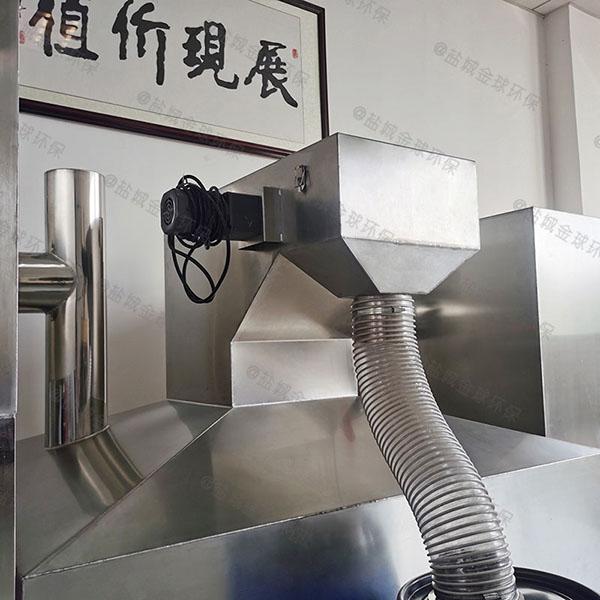 厨房地下室自动刮油隔油过滤设备安装图片