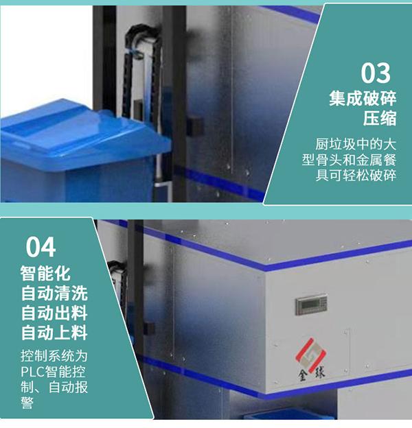 日处理5吨商用厨房垃圾处理整套机价格